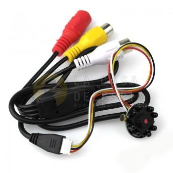 Mini Camara HD Infrarojo CCTV, Micro Camara con IR de 600TVL