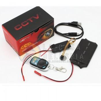 Camara Flex con 1080P full hd, cámara oculta con detección de movimiento y control remoto 2.4G pueden trabajar hasta 15 horas