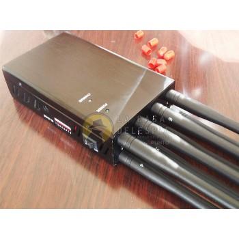 Inhibidor de frecuencias portátil de 8 antenas para telefonía y radio mandos