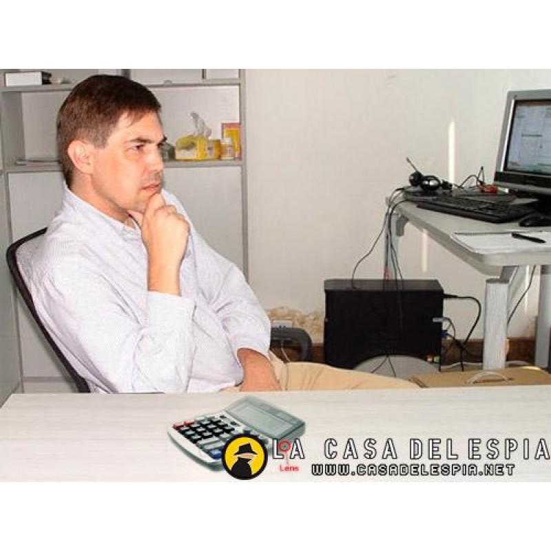 Calculadora con c mara oculta espia for Camara oculta en la oficina