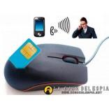 Mouse GSM, microfono con alarma,  auto recargable