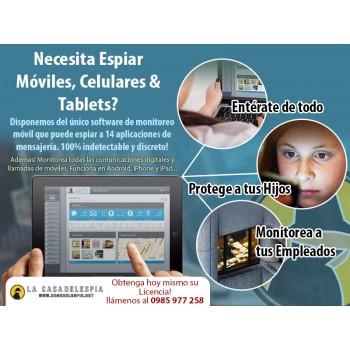 Sistema para Espiar Móviles, Celulares & Tablets - Proteger a los niños, vigilar a los empleados, pezcar a socios estafando