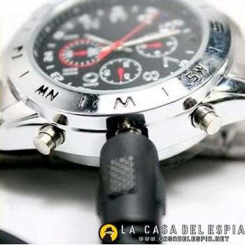 Elegante Reloj Espia de Metal, con camara oculta, videos y fotos