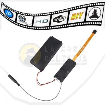 Camara WIFI en módulo con Monitoreo Remoto WIFI 1080P Full HD - Mini DV Ocultos