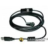 Endoscopio/Borescopio USB Camara con luces led, 5 metros
